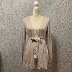 ❤️Zara Angora Wool Ivory Tan Open Front Cardigan❤️